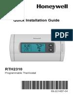 Honeywell Thermostat RTH 2310