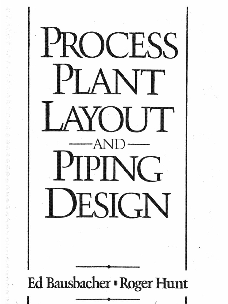 Process Plant Layout And Piping Design Drawing