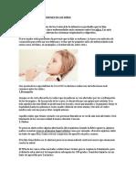 Enfermedades Más Comunes en Los Niño1