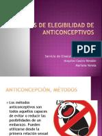 Criterios de Elegibilidad de Anticonceptivos