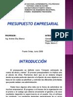Presupuesto Empresarial Presentacion Powerpoint