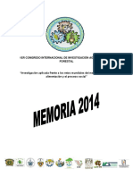 Libro Del Congreso Internacional de Investigación Agropecuaria y Forestal