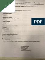 DPD Inter-Office memorandum Cornell death