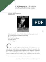 2016. El Asalto a La Democracia y La Escuela Publica Por El Capitalismo de Casino