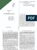 Acto e Interpretación