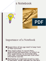 organizing your notebook