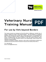 Veterinary Nursing Training Manual