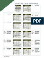 NHCSM 17-18 School Calendar