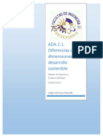 Diferencias de Las Dimensiones Del Desarrollo Sostenible