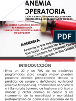 Anemia Perioperatoria