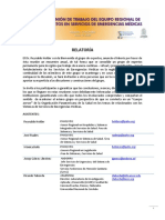 SEM-Coloquio 2-Reunion Trabajo Equipo Regional Expertos Servicios Emergencias Medicas[1]