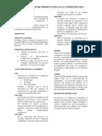 Diagrama de procesos de la empresa Petróleos y servicios