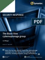 The Black Vine Cyberespionage Group