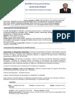 CV  Electrotechnique. Yasni MOUNIR 1 Adrar Rue 17 October N°09, Adrar.