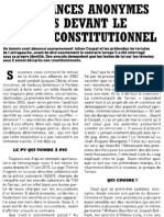 Les Balances Anonymes Des Flics Devant Le Conseil Constitutionnel