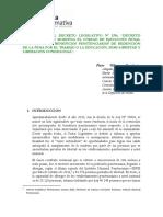 Artículo, Comentarios Al Decreto Supremo 1296 (Versión Final)