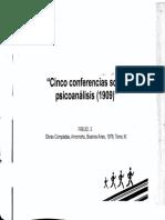 Cinco Conferencias Sobre Psicoanálisis (1909) (Freud, S.)