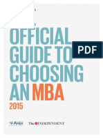 AMBA the Independent Choosing an MBA 2015