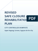Safe Closure and Rehabilitation Plan of CDO City - Controlled Dumpsite