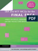 @Anesthesia Books 2012 SBA and MTF