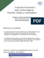 Anticoncepción Hormonal ( Implante, Anillo Vaginal,