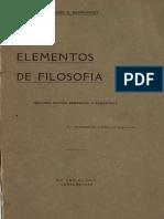 Elementos de Filosofia. Jose Gregorio Hernandez