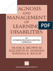 Diagnosis and Management of Learning Disabilities an Interdisciplinary Lifespan Approach