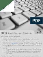 100 Excel Keyboard Shortcuts