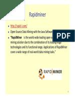 RapidMiner Tutorial Corto