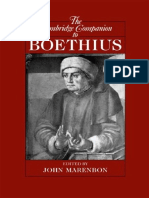 John Marenbon, Cambridge Companion to Boethius (Inglés)