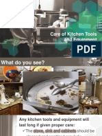Care for Kitchen Tools and Equipment ppt