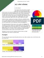 Split Complementary Color Scheme - Colorpedia