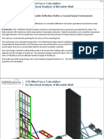 Cfd Wind Force Caclulation-structural Analysis of Movable Wall