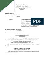 Pre-Trial Brief Arya Stark
