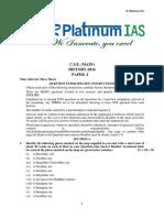 C.S.E. (MAIN) 2016 History Paper 1 R Platinum IAS
