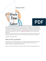 Learn Oracle Time and Labor