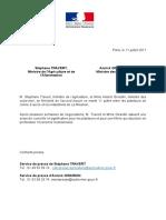 20170711 Accord Filière Sucre de Canne à La Réunion