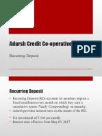 Adarsh Credit - Recurring Deposit