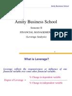 Lecture 10 Leverage