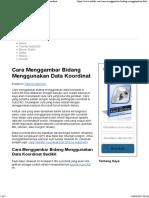 Cara Menggambar Bidang Menggunakan Data Koordinat