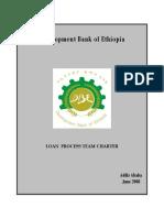 Loan Process Team Charter