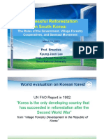 Succsesfull Reforestation in South Korea