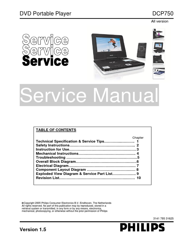 philips dcp750 service manual compact disc dvd rh scribd com philips portable dvd player pet1002 manual philips portable dvd player pet1002 manual