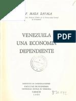 1964 DF Maza Zavala Venezuela Una Economia D F. Maza Zavala