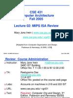 cse431-02mipsisa mips architecture
