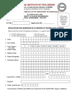 m Tech Application Form 2017