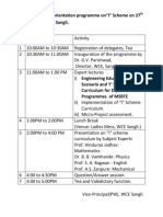 Schedule for the Orientation Programme On