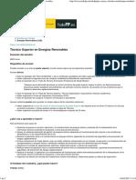 Portal Todo FP Técnico Superior en Energías Renovables