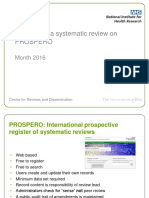 Registering a Systematic Review on PROSPERO Feb 2016