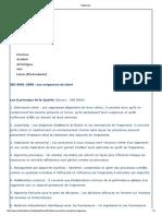 Exigences ISO 9001